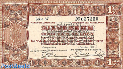 1 Gulden 1938 Serie 2 Letters