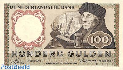 100 Gulden 1953