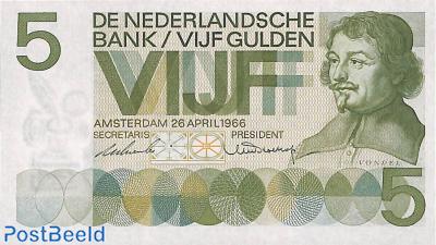 5 Gulden 1966