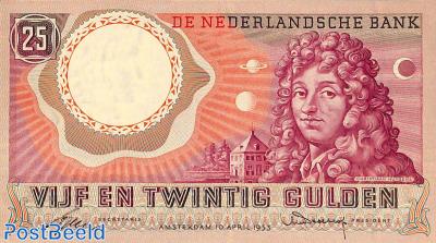 25 Gulden 1955 1 Digit 2 Letters 6 Digits