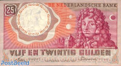 25 Gulden 1955 3 Letters 6 Digits