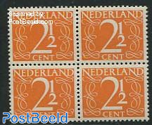 2.5c, Block of 4, Stamp out of set