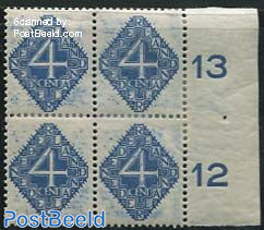4c, Block of 4 with too much blue ink