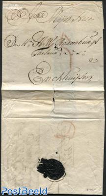 Letter from Dordrecht to Enkhuizen