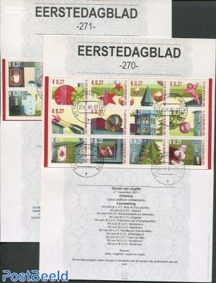 Christmas stamps EDB (270+271)