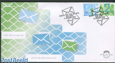 Business stamps 2v, FDC