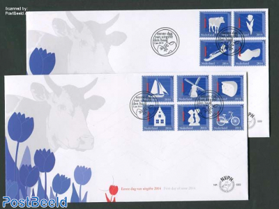 Dutch symbols 10v FDC (2 covers)