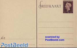 Postcard 7.5c brown, brown paper