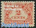 2c, Perf 11:9, Postage due, Stamp out of set