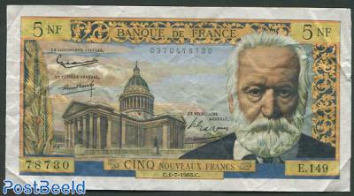 5 Francs 1959