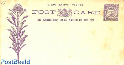 Postcard 1d with flower illustration