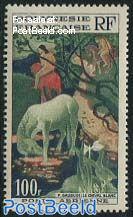 100F, Gaugin, Stamp out of set