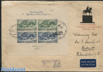 Stamp exposition s/s on cover