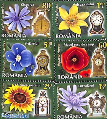 Flowers & clocks 6v+tabs