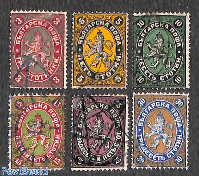 Definitives 6v, used