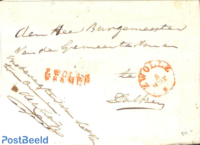 Folding letter from Rotterdam to Schiedam
