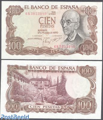 100 Pesetas 1970