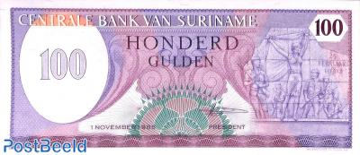 100 gulden 1.11.1985