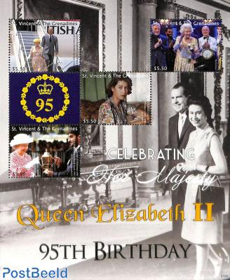 Queen Elizabeth II 95th birthday 5v m/s