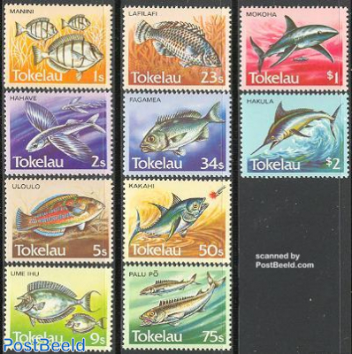 Definitives, fish 10v