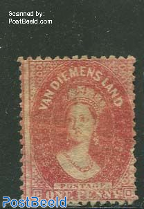 1p, Red, Perf. 12, used