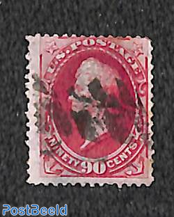 90c Carmine, used