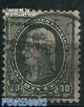 30c Black, Stamp out of set