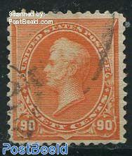 90c, Orange, used