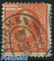 90c Redorange, used