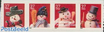 Christmas 4v from booklet