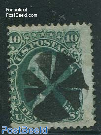10c Green, With grill, used