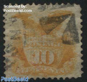10c yelloworange, used