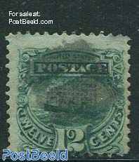 12c Green, used