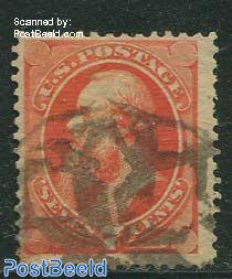 7c Orangered, used