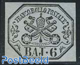 6 Baj, MNH, small spot, certificate E.Diena 1997