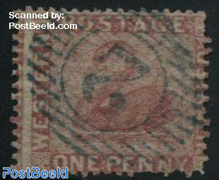 1p, Rosa, perf. 14, used
