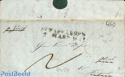 folding letter from Switzerland