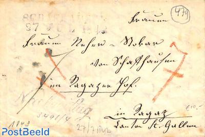 Folding letter to St Gallen