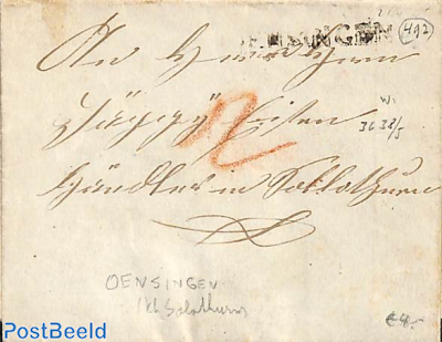 Folding letter from Oesingen