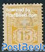 15c Yellow, white paper, Stamp out of set